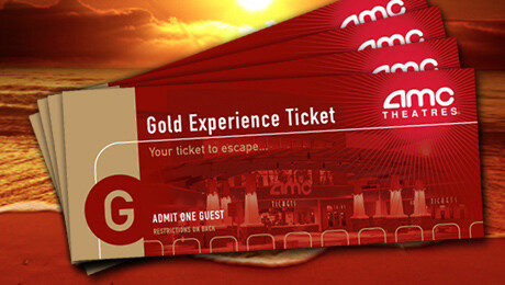 The AMC Gold ExperienceTM 4 Pack Is Back These Tickets Can Be Used For Any Film At TheatresR Location Nationwide Including