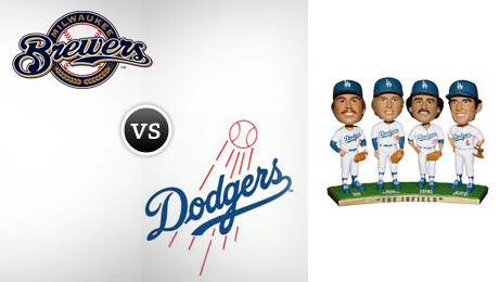 "Milwaukee Brewers vs. Los Angeles Dodgers Bobblehead: ""The Infield"""